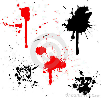 Splats and drips
