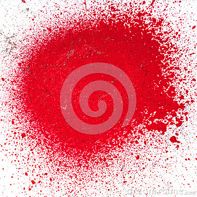 Free Splatter Of Red Paint From An Aerosol Spray Can Royalty Free Stock Photography - 40706917