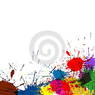 Splatter Paint Background