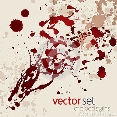 Free Splattered Blood Stains, Set 1 Stock Photography - 26053692