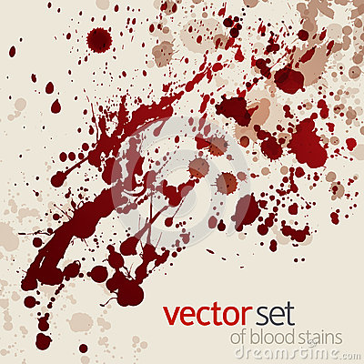 Splattered blood stains, set 3