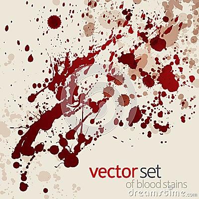 Splattered blood stains, set 3