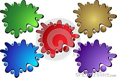 Splattered color
