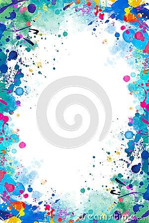 Free Splattered Frame Stock Image - 47016271