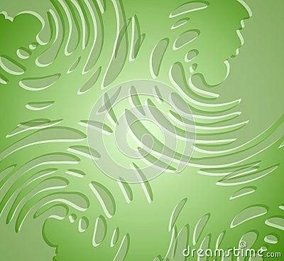 Splatters Liquid Texture Green