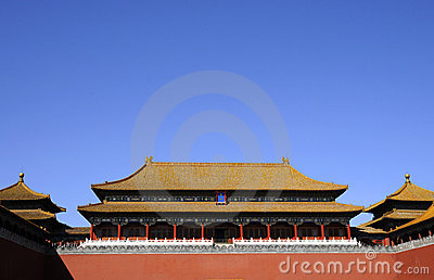 Splendid building of Chinese royal palace
