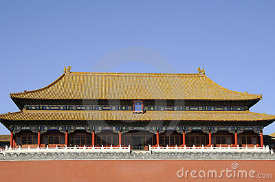 Splendid building of forbidden city