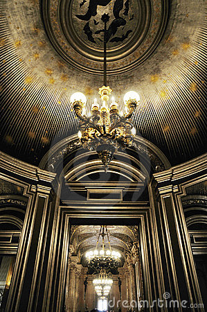Splendid ceiling with beautiful Chandelier