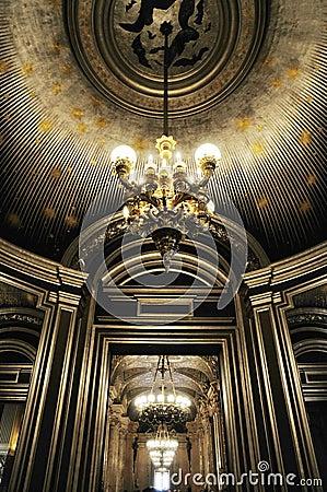 Splendid ceiling with beautiful Chandelier