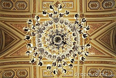 Splendid ceiling Chandelier in royal palace