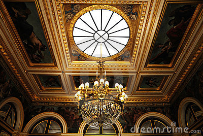 Splendid ceiling Chandelier in royal palace