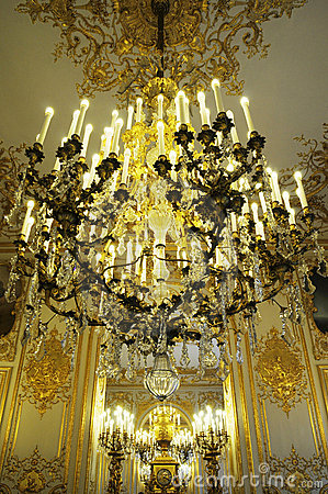 Splendid Chandelier in royal palace