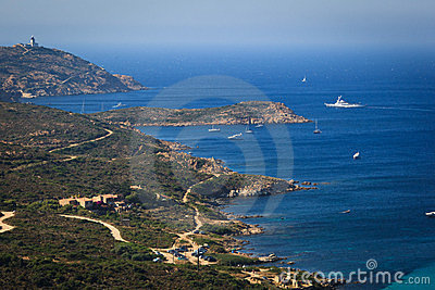 Splendid corsica coastal waters