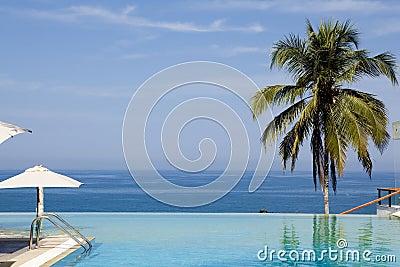 Splendid swimming pool in a hotel resort