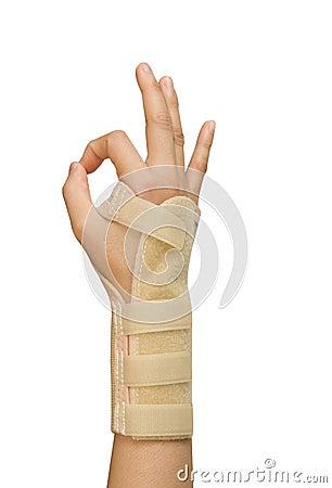 Splint for wrist fracture