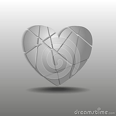 Splinters of gray heart