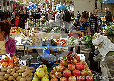 Split (Croatia) market 1 Editorial Stock Image