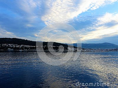 Split Croatia Sunrise Sea Stock Photo