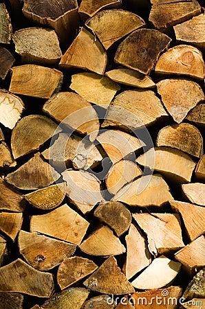 Split firewood logs