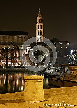Split - harbor  in the night 2