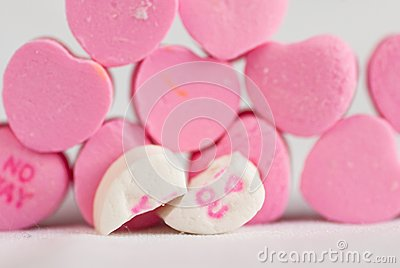 Split Love Hearts