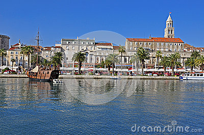 Split: palace and cathedral