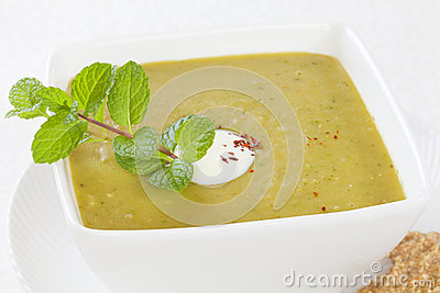 Split Pea Soup with Yoghurt and Mint