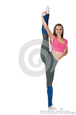 The splits upright