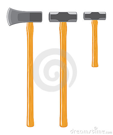 Splitting Maul and Sledge Hammers