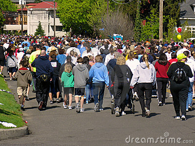 Spokane Bloomsday Runners 2010 Editorial Photo