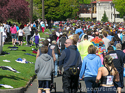 Spokane Bloomsday Runners 2010 Editorial Image