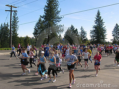 Spokane Bloomsday Runners 2010 near Mile 2 Editorial Image