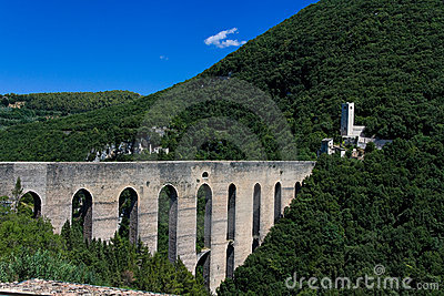 Spoleto, Ponte delle Torri Panorama