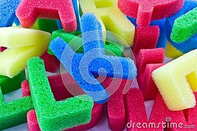 Sponge alphabet letters