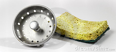 Sponge and drain plug