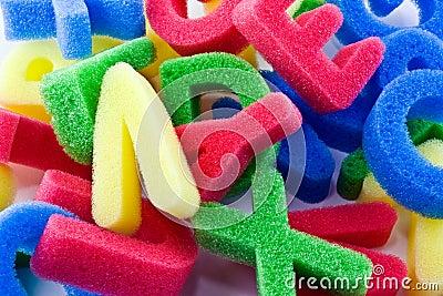 Sponge letters