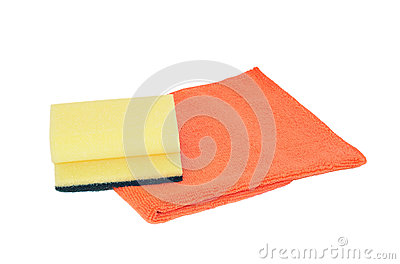 Sponge and microfiber serviette