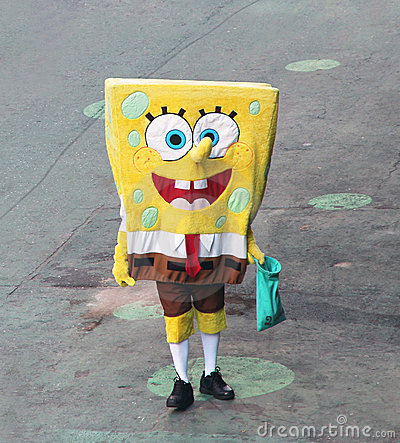 SpongeBob Waiting for Clients. Editorial Photography