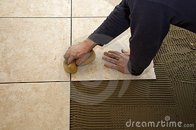 Sponging Ceramic Tile