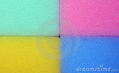 Spongy colorful texture