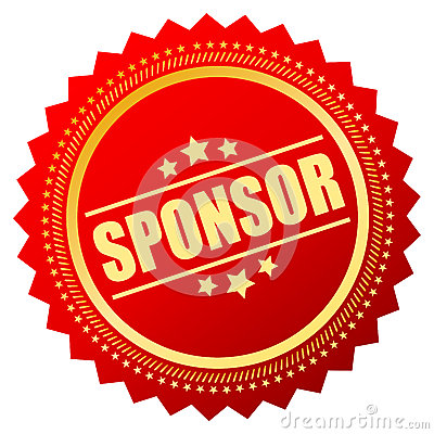 Free Sponsor Badge Royalty Free Stock Photos - 58987248