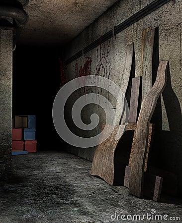 Spooky basement