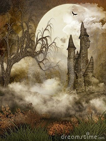 Free Spooky Castle Royalty Free Stock Images - 7274969