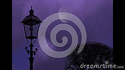 Spooky castle Linn during the night - Krefeld - Germany.  stock video footage