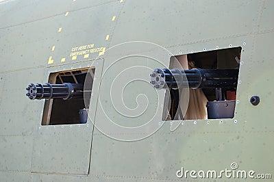 Spooky gun ports