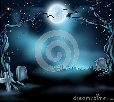 Free Spooky Halloween Background Scene Royalty Free Stock Photography - 34492597