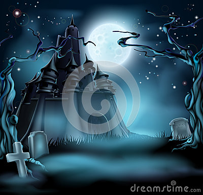 Free Spooky Halloween Castle Royalty Free Stock Photography - 56845407