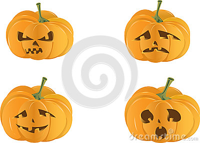 Spooky halloween pumpkin isolated