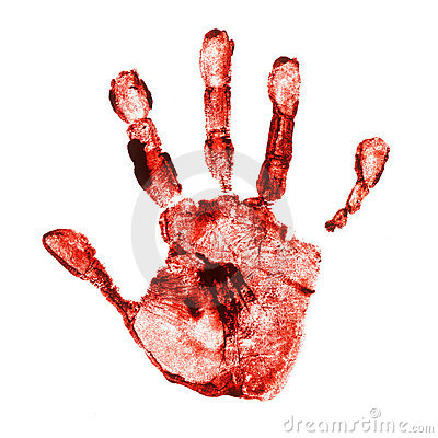 Spooky hand print