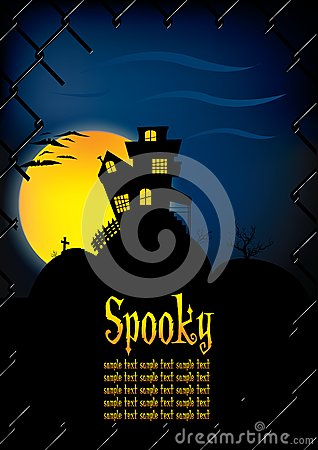 Spooky house background template